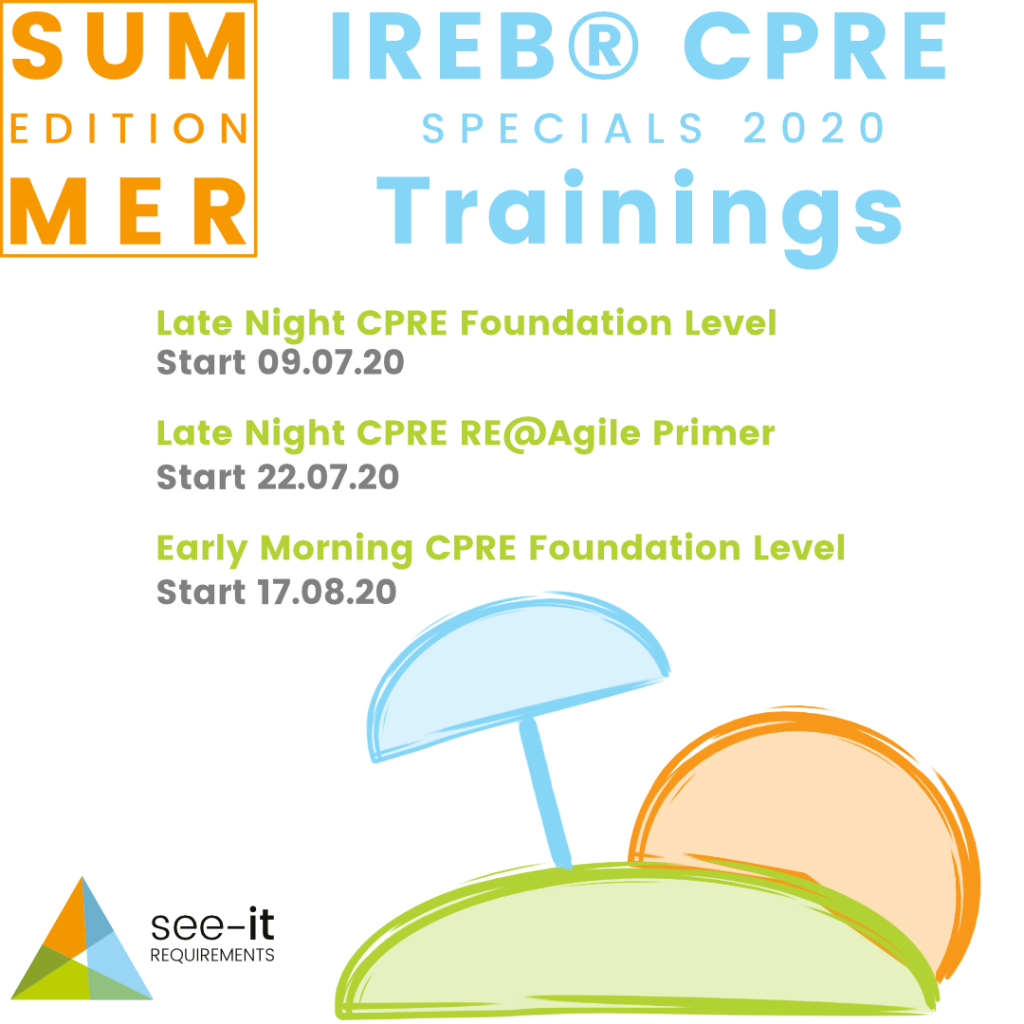 Summer Edition 2020 - IREB CPRE Trainings